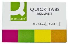 Q CONNECT KF01226  Quick Tabs Neon